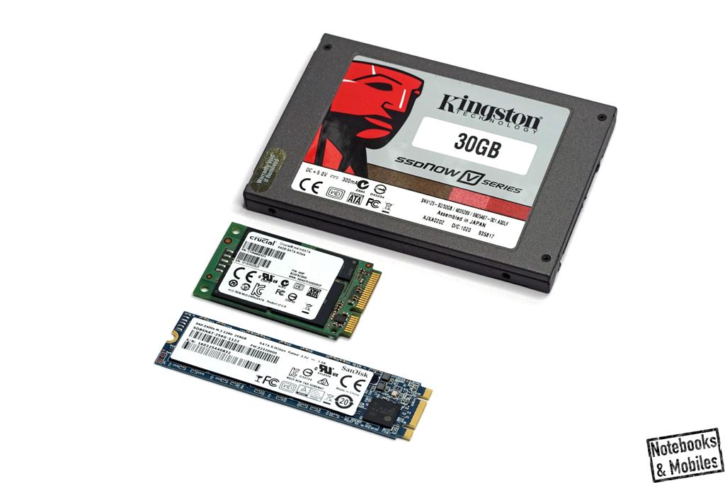 Sandisk Z400s M.2-SSD: Verschiedene Formfaktoren im Vergleich