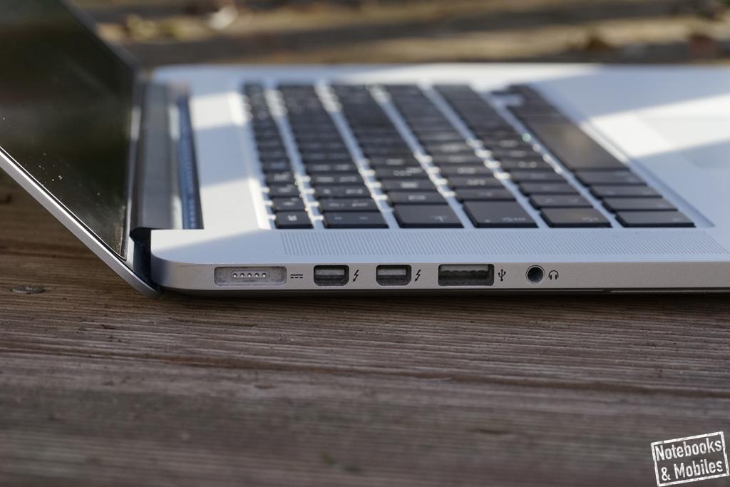 "Apple 15"" MacBook Pro Retina: Anschlüsse links"