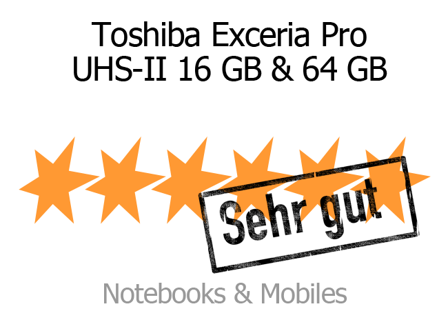 Bewertung Toshiba ExceriaPro