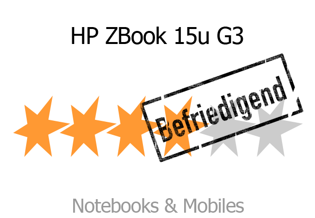 Bewertung HP ZBook 15u G3