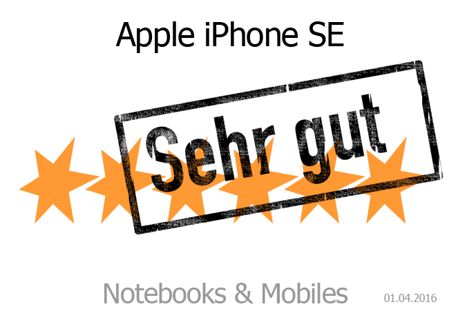 Apple iPhone SE Wertung Sehr gut