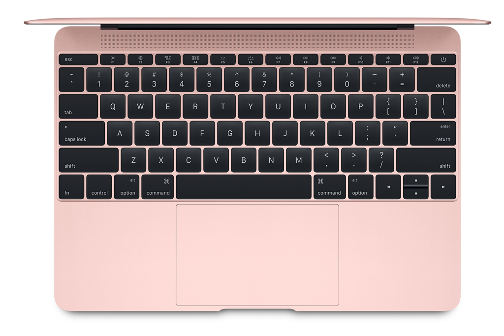 Bild Apple: Apple 12 Zoll MacBook Early 2016 in Roségold mit Forcetouch Touchpad.