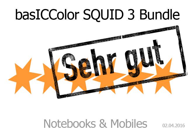 basiccolor Squid 3 sehr gutes Testergebnis