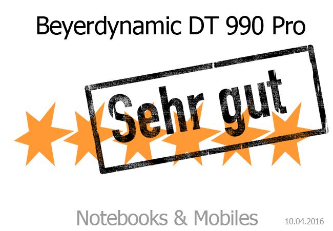 Beyerdynamic DT 990 Pro: Sehr gute Wertung