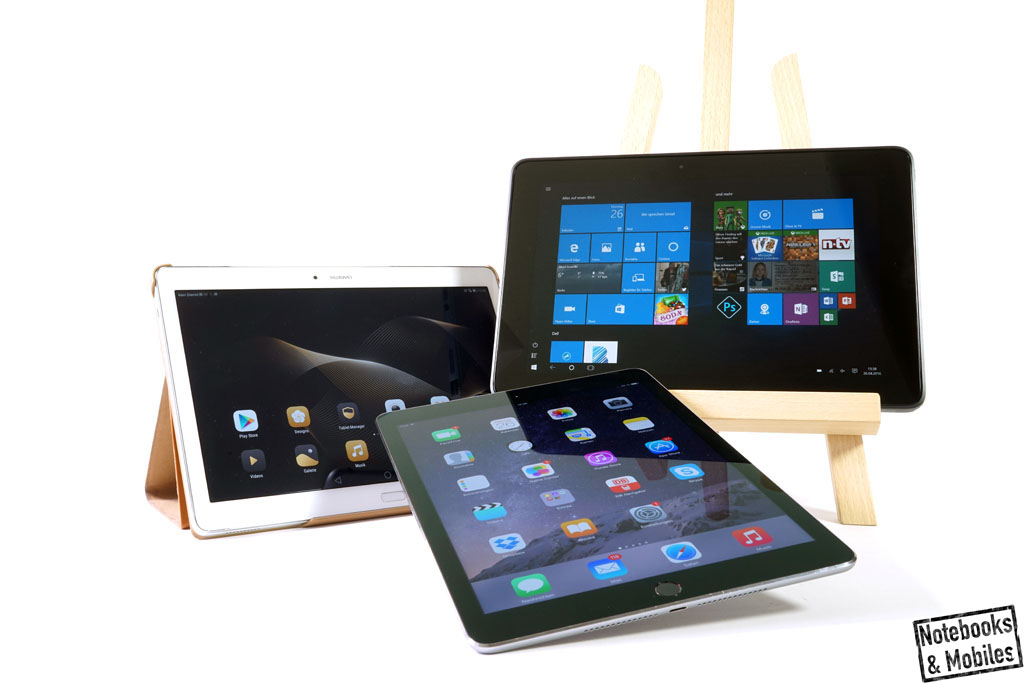 Huawei MediaPad M2 10.0 mit Apple iPad Air 2 und Dell Venue 10 Pro