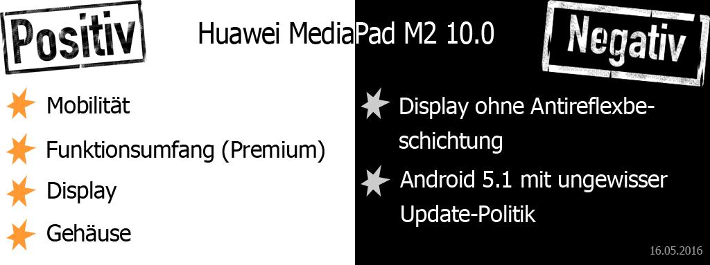 Huawei MediaPad M2 10.0 Pro und Contra