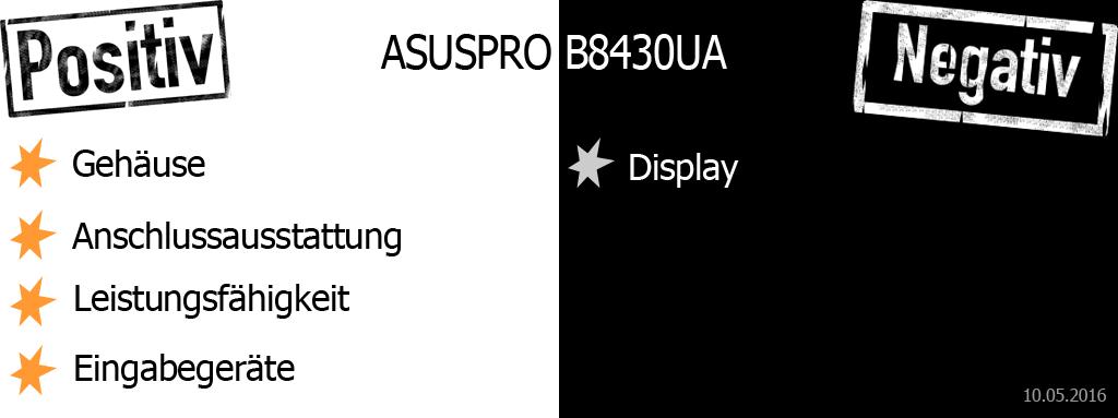 ASUSPRO B8430UA Pro und Contra