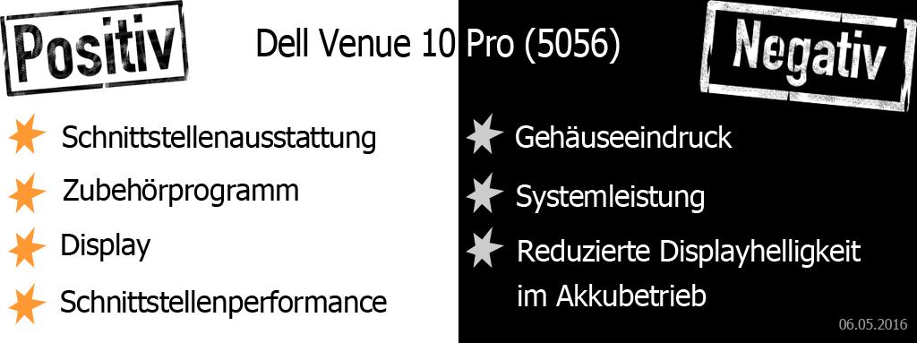 Dell Venue 10 Pro Pro und Contra