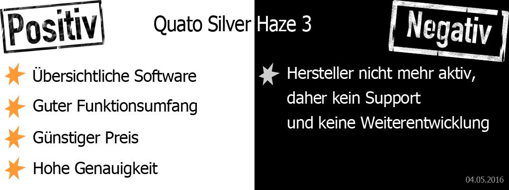 Quato Silver Haze 3 Pro und Contra