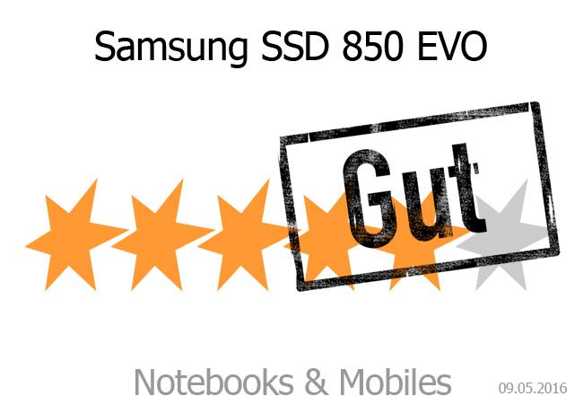 Samsung SSD 850 EVO Gute Wertung