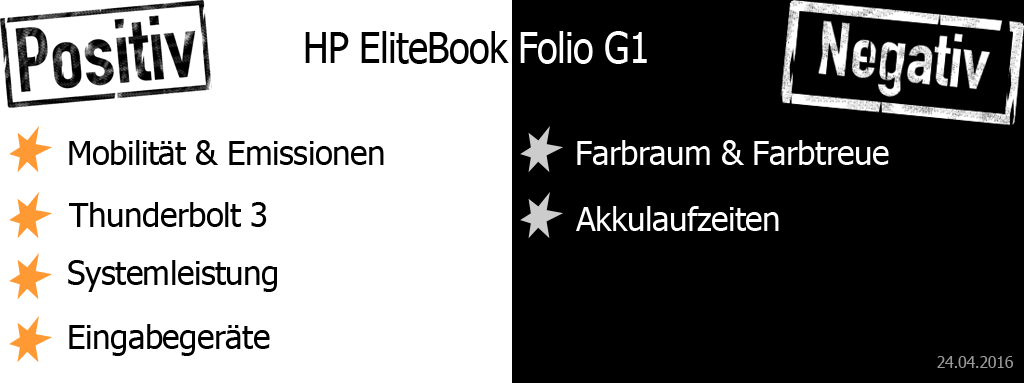 HP EliteBook Folio G1 Pro und Contra