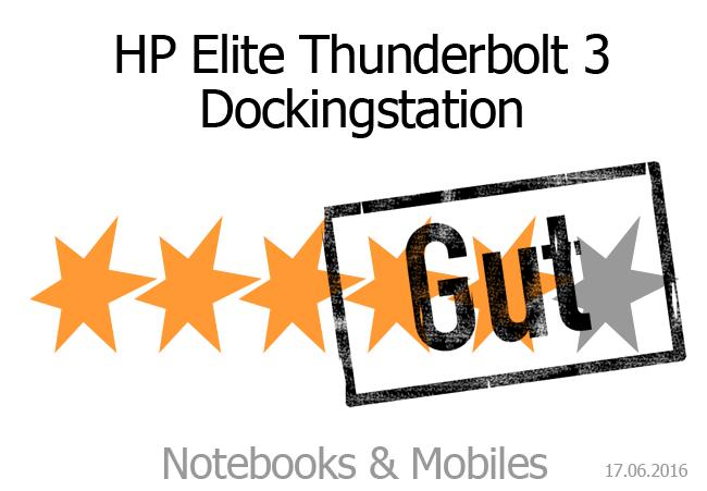 HP Thunderbolt 3 Dockingstation mit guter Bewertung
