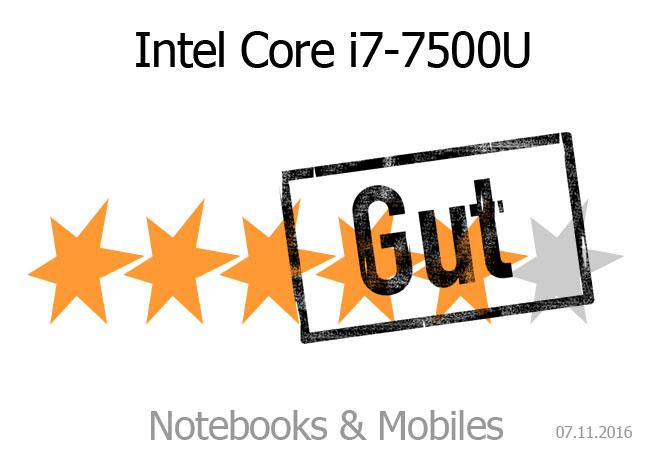 Kaby Lake Intel Core i7-7500U