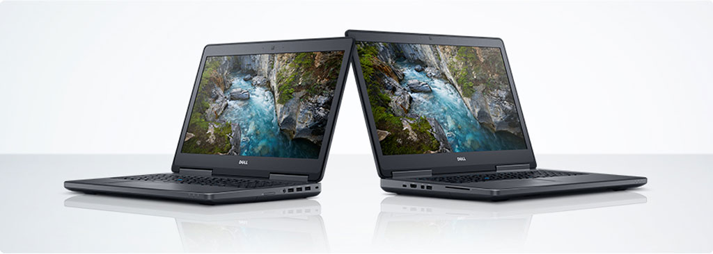 Bild Dell: Dell Precision 7520 und Dell Precision 7720.