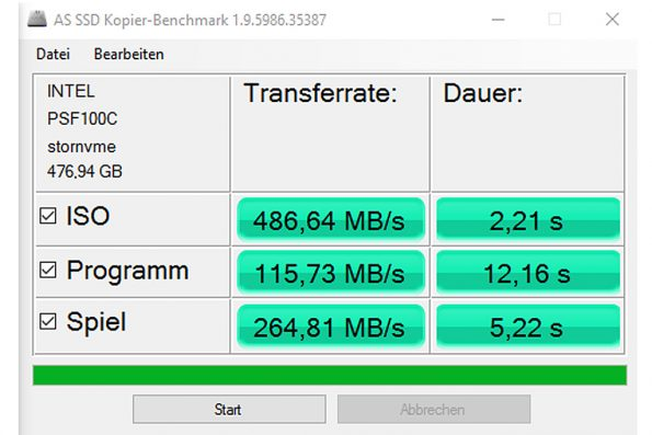 Intel SSD 600p 512 GB