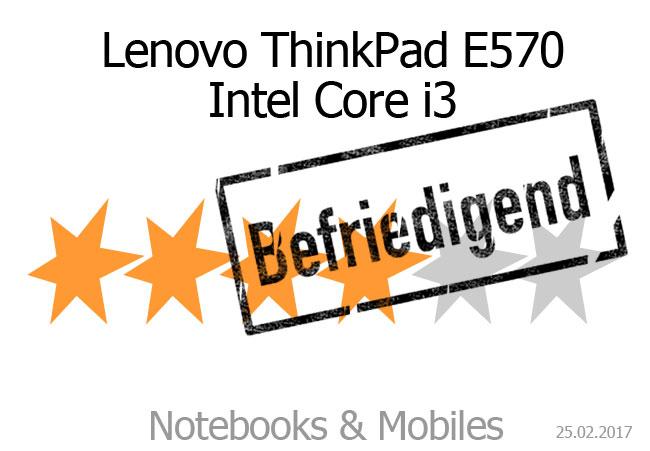 Lenovo ThinkPad E570 in Silber, Intel Core i3-7100U
