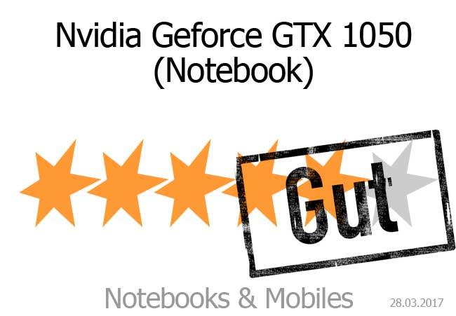 Nvidia Geforce GTX 1050 mit guter Bewertung.