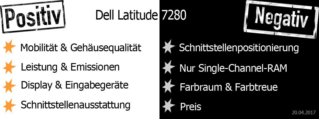 Pro und Contra Dell Latitude 7280