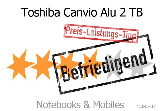 Toshiba Canvio Alu mit befriedigender Bewertung