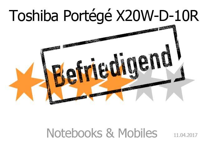 Toshiba Portégé X20W mit befriedigender Endnote