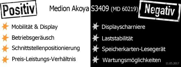 Pro und Contra Medion Akoya S3409