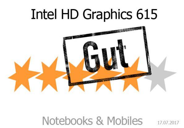 Gut: Intel HD Graphics 615