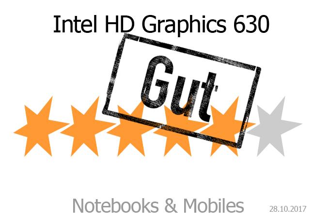 rating intel hd graphics 630 notebooks und mobiles. Black Bedroom Furniture Sets. Home Design Ideas