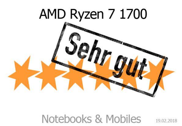 AMD Ryzen 7 1700 im Test