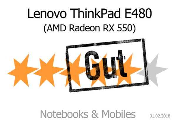 Lenovo ThinkPad E480 (i5-8250U, RX 550) im Test - Notebooks und Mobiles