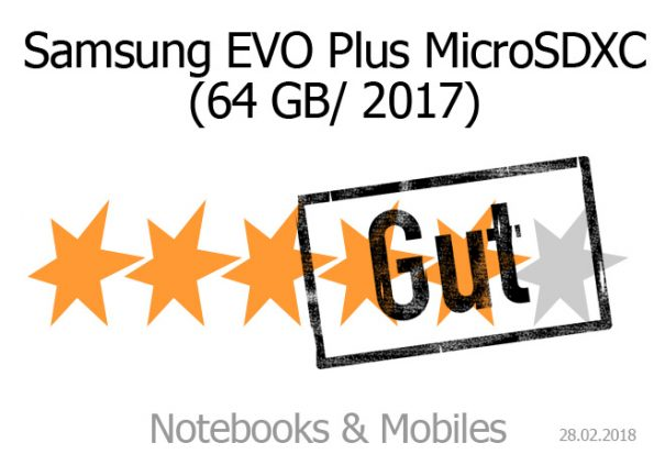 Samsung EVO Plus 2017 im Test