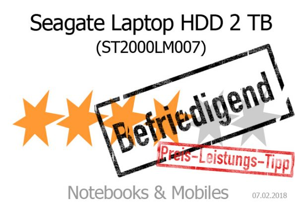 Seagate Mobile HDD 2 TB (ST2000LM007)
