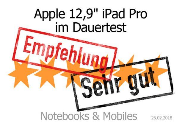 Apple 12,9 Zoll iPad Pro im Dauertest
