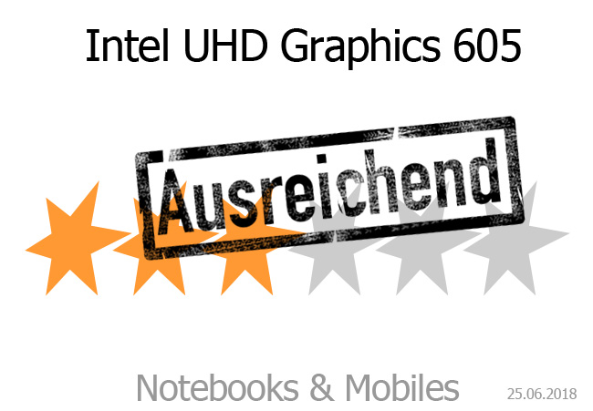 Intel UHD Graphics 605 (Laptop) im Test - Notebooks und Mobiles