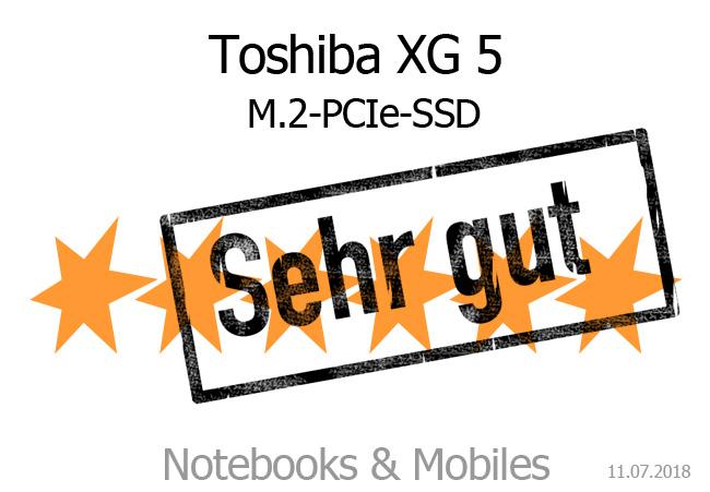 Toshiba XG5 PCIe-M 2-SSD im Test - Notebooks und Mobiles