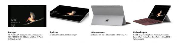 Bild Microsoft: Microsoft Surface Go