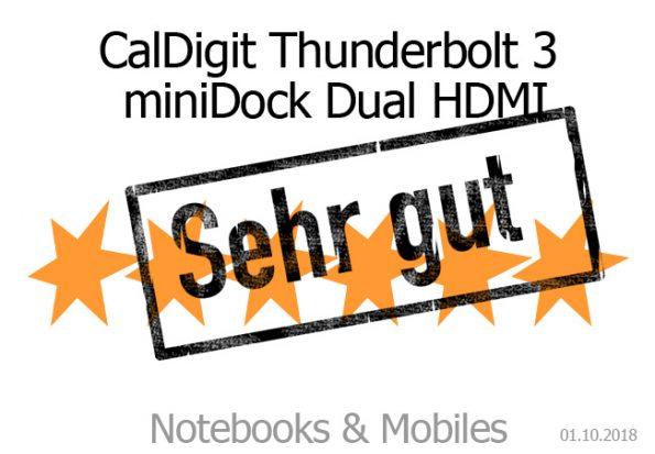 CalDigit Thunderbolt 3 miniDock