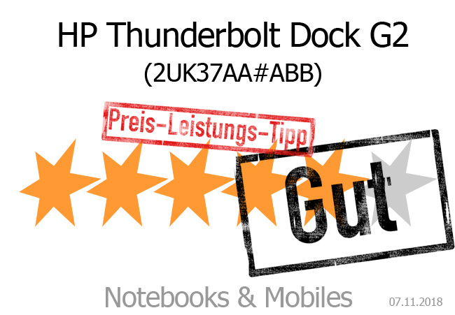 HP Thunderbolt Dock G2 im Test - Notebooks und Mobiles