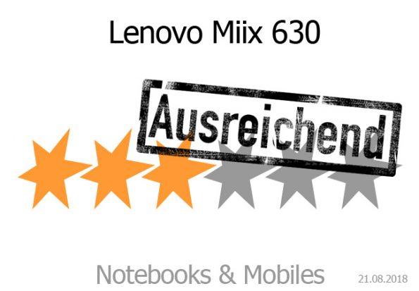 Lenovo Miix 630 Convertible