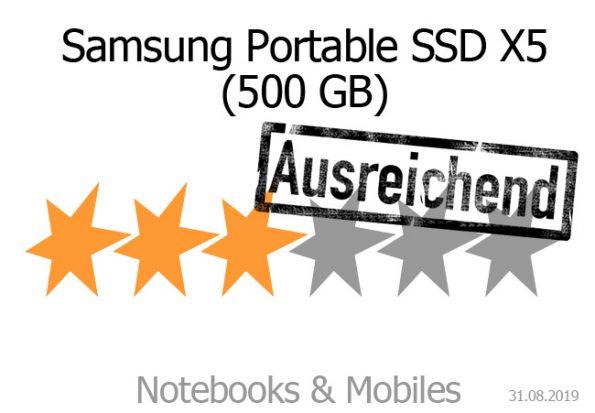 Samsung Portable SSD X5 (500 GB)