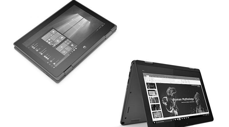 Bilder Lenovo und HP: Convertibles für die Schule.