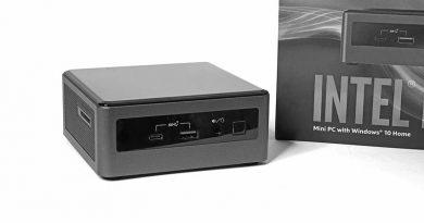 Intel NUC mit Intel Core i7-10710U.